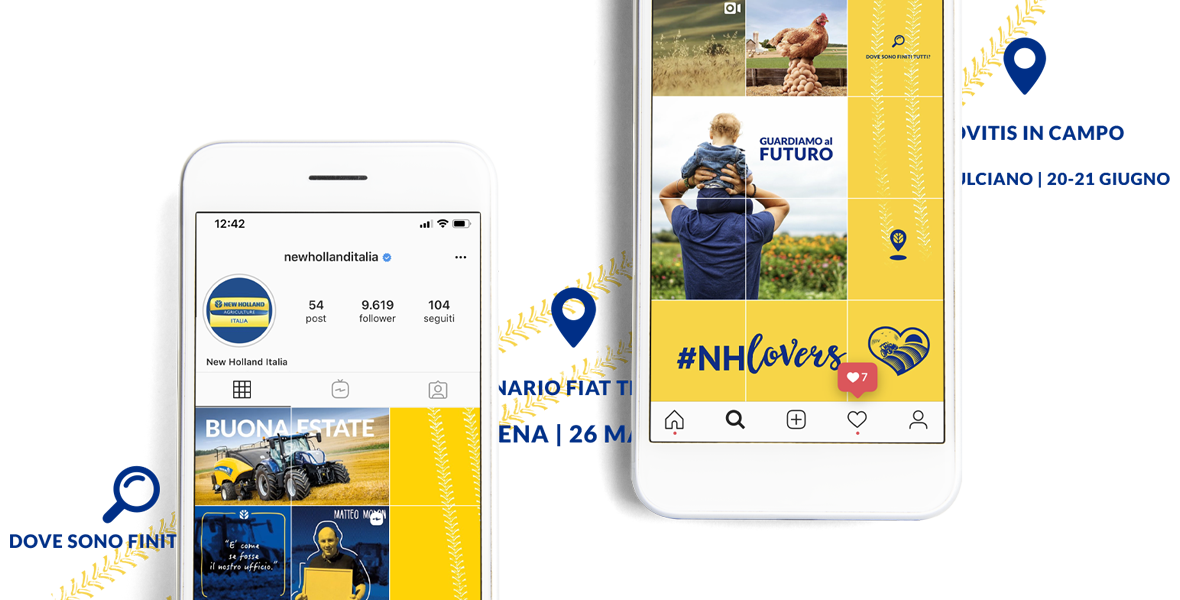 instagram strategy for agricultural equipment company New Holland